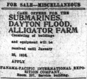 From the classified ads, San Francisco Chronicle, Jan. 19th, 1916.